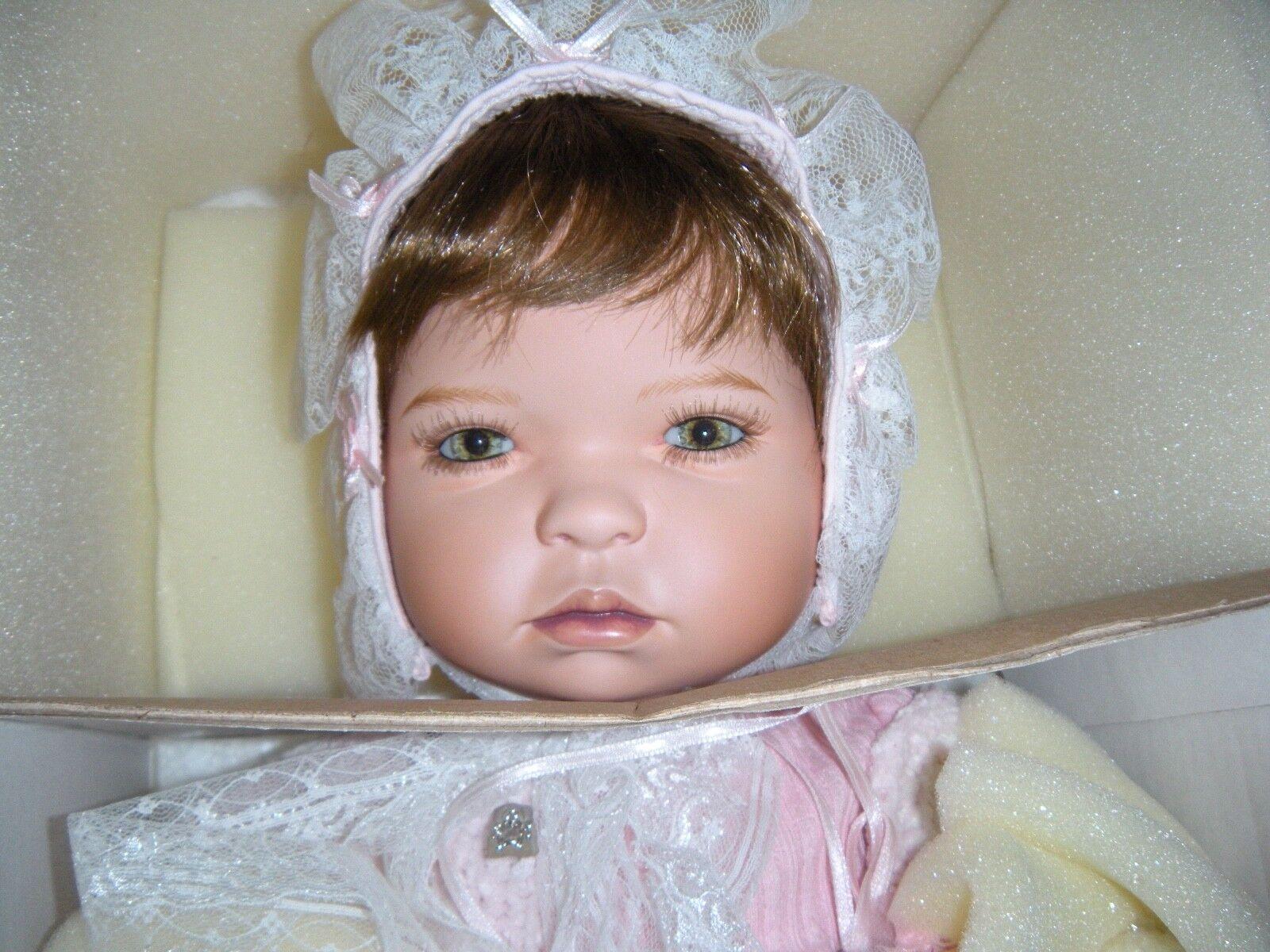 Gloria Vanderbit as a Newborn Baby Limited ED Porcelain Doll By Pamela Erff NEW