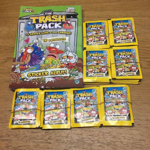 The Trash Pack 8 Albums and 80 Packs of Stickers Lucky Party Bag Giromax Loot