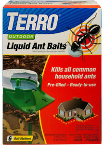 New-TERRO-Outdoor-Liquid-Ant-Baits-6-Stakes-Insect-Pest-Bug-Control-T1806-NIP