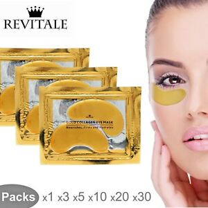 Revitale-Collagen-24k-Gold-Under-Eye-Gel-Mask-Anti-Ageing-Wrinkle-Bag-Remover