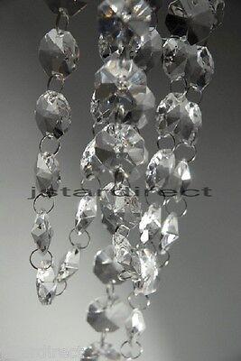 18 inch (1.5 feet) Clear Acrylic Crystal Garland Hanging Bead Wedding Centerpiec