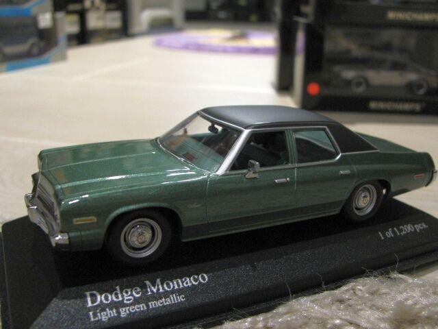 1 43 MINICHAMPS Dodge Monaco 1974 Metallic Green  Best