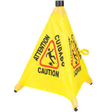 6 Pack Restaurant Caution 20 Pop Up Wet Floor Yellow Folding Sign Commercial