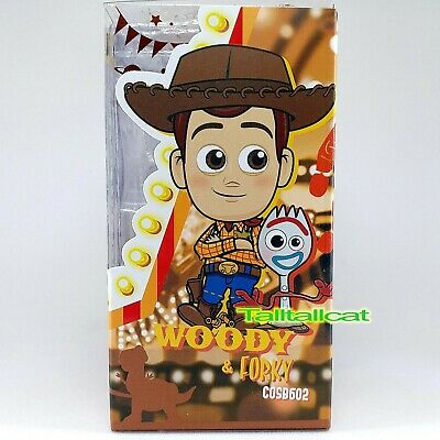 Hot Toys Cosbaby Disney Pixar Toy Story 4 Woody /& Forky Collectible Set