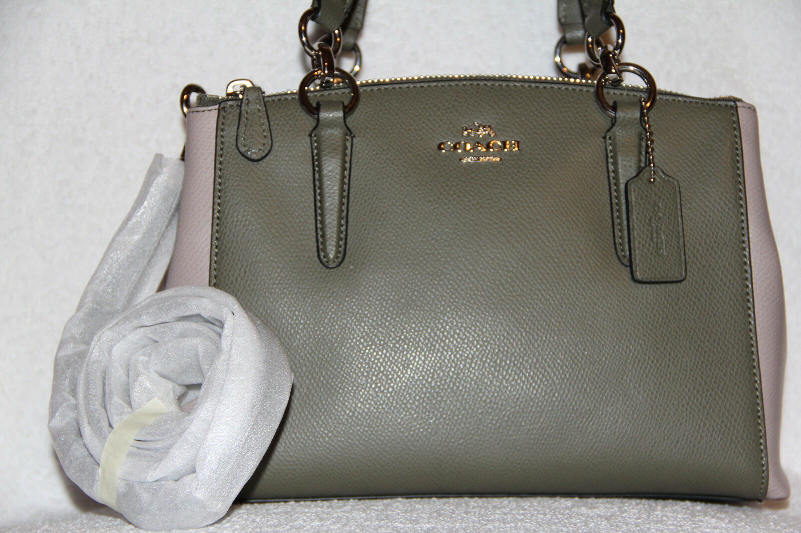 2d92a011a1 Coach Mini Christie Carryall in Colorblock Leather Satchel 57266m ...