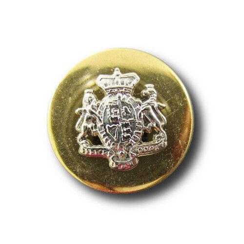 besonders edle Wappenknöpfe aus Metall 6 silber-goldfarbene d851-18mm