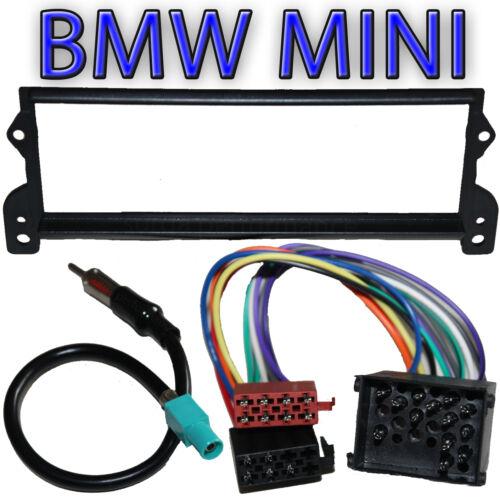 adaptador radio cable nuevo BMW Mini ONE S Mini Cooper radio marco diafragma incl