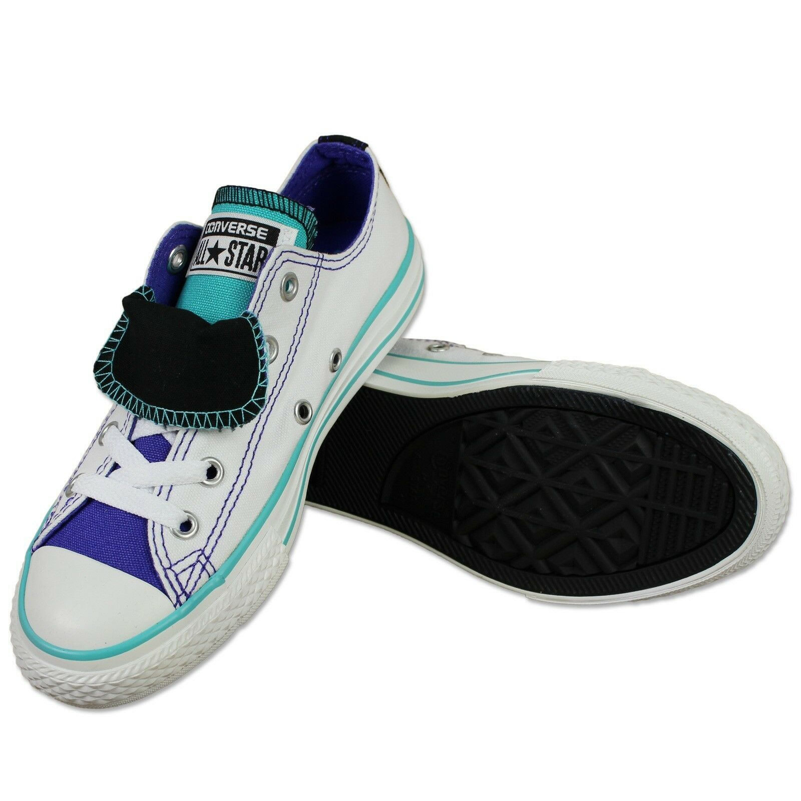 Converse All Star Doppelzunge Double Tongue Doppelzunge Star Taylor Chaussures Baskets Blanc 38 3e14b2