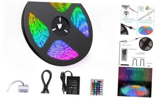 44-Key Remote Contr 16.4ft RGB LED Strip 5050 LED Tape Lights LED Strip Lights