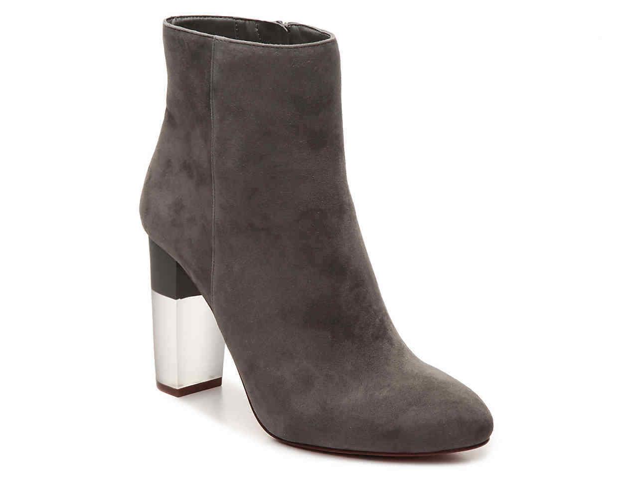 NIB $169 Women's Enzo Angiolini Hadie Bootie - Grey Suede - size 6.5