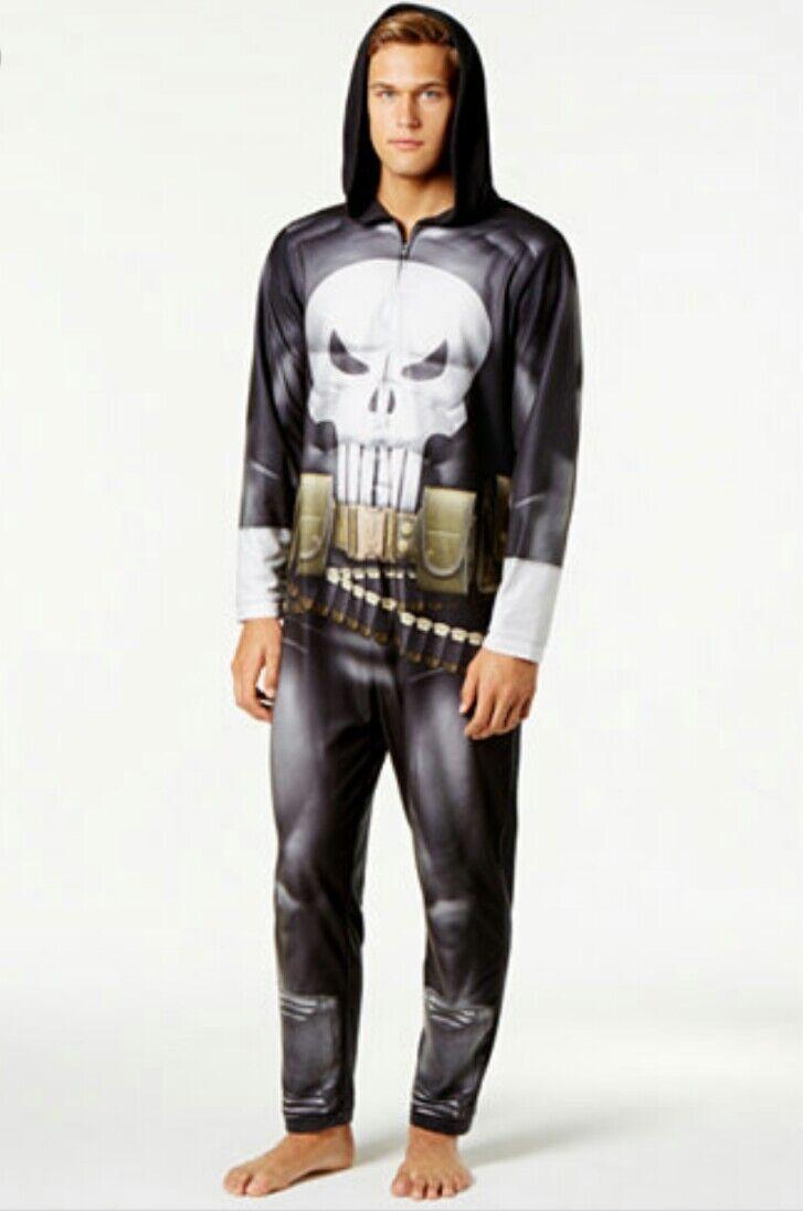 PUNISHER Marvel Costume Jumpsuit Union Suit Pajamas Men's Large NEW WITH TAG