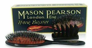 NEW-Mason-Pearson-HANDY-BN3-MEDIUM-Size-Bristle-and-Nylon-Hair-brush-Dark-Ruby