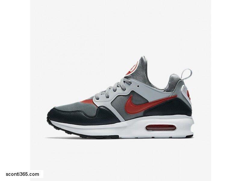 Nike Scarpe AIR MAX Prime, Nike, Uomo - Art.876068-003 (Cool Grey/Track Red-Wolf