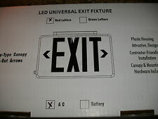 Led Universal Exit Fixture Red Letters Ac