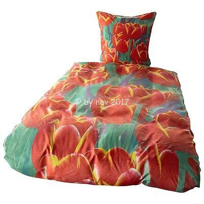 Sanft BettwÄsche 914 In Bunt Blumen Tulpen Mikrofaser Garnitur Bett 135x200 Neuware Diversifiziert In Der Verpackung Bettwäschegarnituren Bettwaren, -wäsche & Matratzen