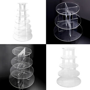 Acrylic-Cupcake-Cake-Stand-Display-Holder-Round-Clear-Wedding-Birthday-Party