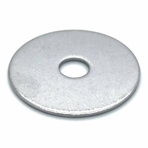 """100 Qty 1/4"""" x 1"""" 304 Stainless Steel Fender Washe"""