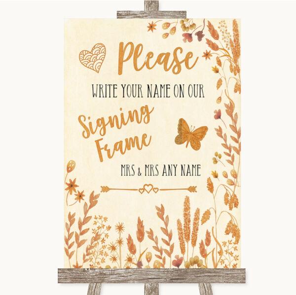 2019 Ultimo Disegno Autumn Leaves Firma Cornice Guestbook Matrimonio Personalizzati Segno