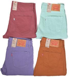 LEVIS-Jeans-511-Homme-Pastel-Violet-Pantalon-Coupe-Slim-Pantalon-Stretch-Taille-Choisir