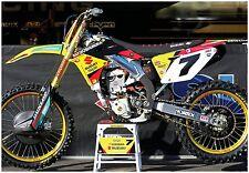 JAMES STEWART SUZUKI RMZ450 SUPERCROSS RACE BIKE GIANT POSTER motocross bubba sx