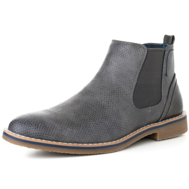 b0eafcbff6e Alpine Swiss Mens Nash Chelsea Boots Snakeskin Ankle Boot Genuine Leather  Lined