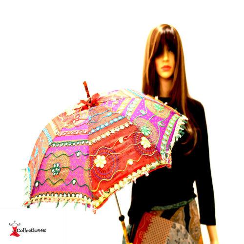 Mano Decorativa Indiano Ricamato MATRIMONIO parasole spiaggia sole ombra Ombrello REGNO UNITO