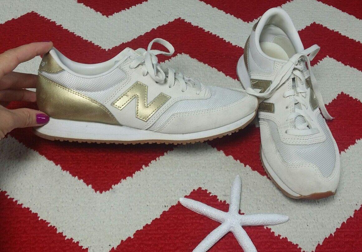 New Balance femmes Chaussures  J Crew Sz 8 Cream & Gold  Chaussures  CW620JD2