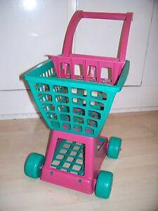 Kaufladen-Kaufmann-Einkaufswagen-ca-50-cm-mit-Puppensitz-Puppenspielzeug