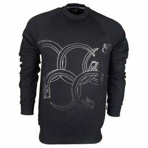 Logo Printed Cotton Sweatshirt Black Jersey Felpa q4vwtEx1t