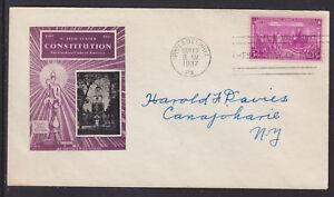 US-Planty-798-12-FDC-1937-3c-Constitution-Sesquicentennial-Ioor-Cachet