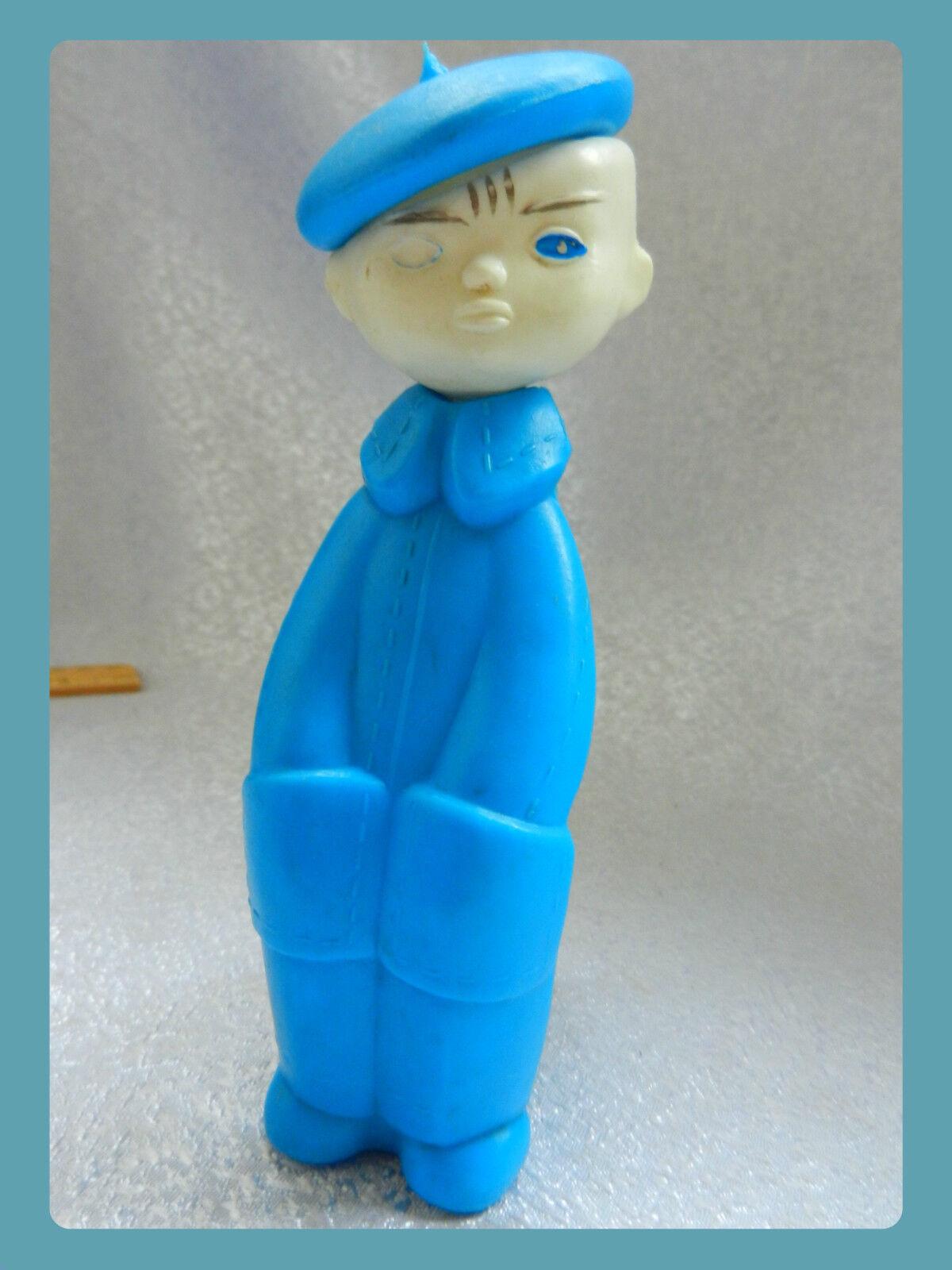 Mycket s ällsynt 1970 -talet VTG rysk sovjetisk författare leksak - pojke i en berest DOLL skulptur