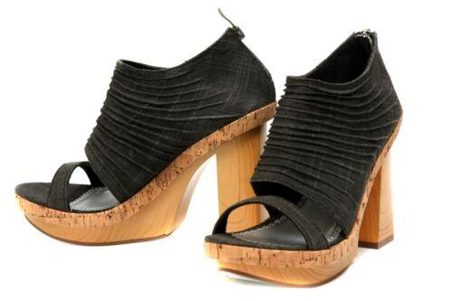 New Unleashed leather Wooden Platform Sandals women/'s shoes size 7