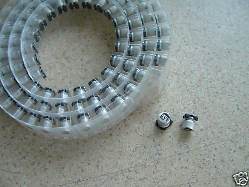 2.2uF 50V A SMT Electrolytic Capacitors Pack of 100 ( -868 )