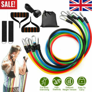 Resistance-Loop-Bands-set-of-5-POWER-GYM-FITNESS-EXERCISE-YOGA-WORKOUT-PULL-UP