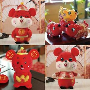 1x2020 Year of the Rat Mascot Plush Mouses Chinese New ...