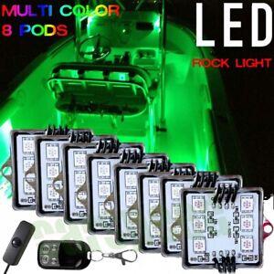 8Pod Boat Interior Inside Lighting LED Kit Full Color Changing Glow Neon Strips