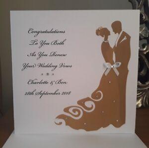 Handmade personalised 6 square wedding vow renewal card ebay image is loading handmade personalised 6 034 square wedding vow renewal junglespirit Images