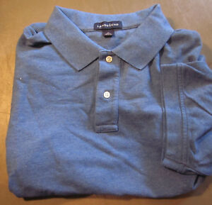 NEW LANDS END MENS S//S MESH POLO SHIRT XL //TALL SAIL BLUE TRADITIONAL FIT