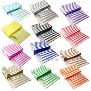 100-CANDY-STRIPED-COLOR-AND-WHITE-PAPER-GIFT-SWEET-BAGS-WEDDING-PICK-N-MIX-5X7-034