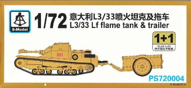 S-model 1/72 PS720004 Italian L3/33 Lf Flame Tank & Trailer(1+1)