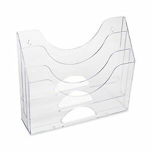 Details About Wall 3 Pocket File Plastic Sorting Folder Organizer Home Office Storage Clear