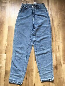 """Aimable Vintage Armani En Lin Jeans Taille 28-29"""" Jambes Fuselées Intérieur Couture 33""""-afficher Le Titre D'origine"""