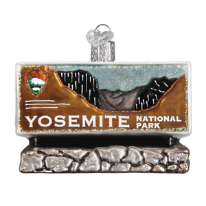 Old-World-Christmas-YOSEMITE-NATIONAL-PARK-36172-N-Glass-Ornament-w-OWC-Box