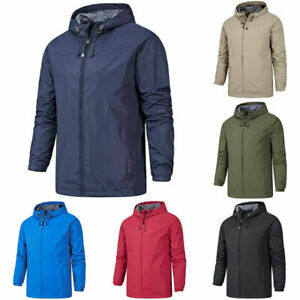 Hiking Mens Hooded  Jacket Windproof Work Waterproof Outdoor Winter Coat Warm