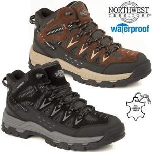 Para-Hombres-Cuero-Caminar-Senderismo-NORTHWEST-Impermeable-Botas-al-Tobillo-Zapatillas-Zapatos