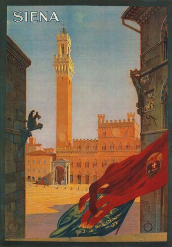 TV33 Vintage 1925 Italian Italy Siena Sienna Travel Poster Re-Print A4