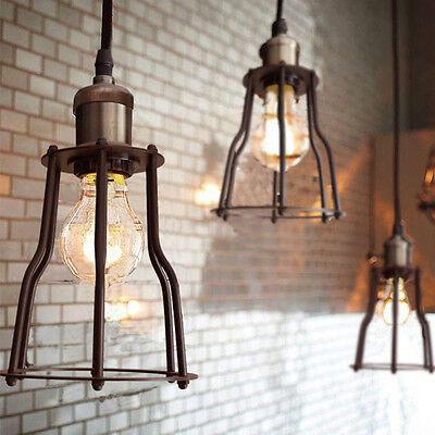 Pendant Light Ceiling Lamp Loft Edison Lighting Industry Cage Retro Industrial