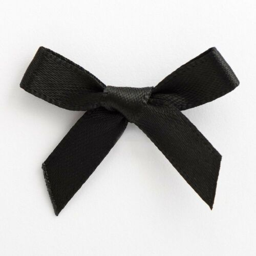 Satin Ribbon Bows Small 3cm Pre Tied For Wedding Card Making Sewing Crafts