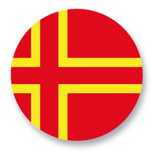 Magnet Aimant Frigo Ø38mm Drapeau Flag Croix de Saint Olaf Normandie Normand