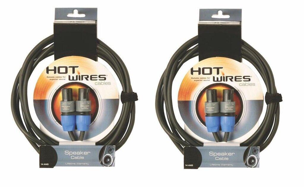 2 10' 14 ga Professional Neutrik Speakon Speaker Cables